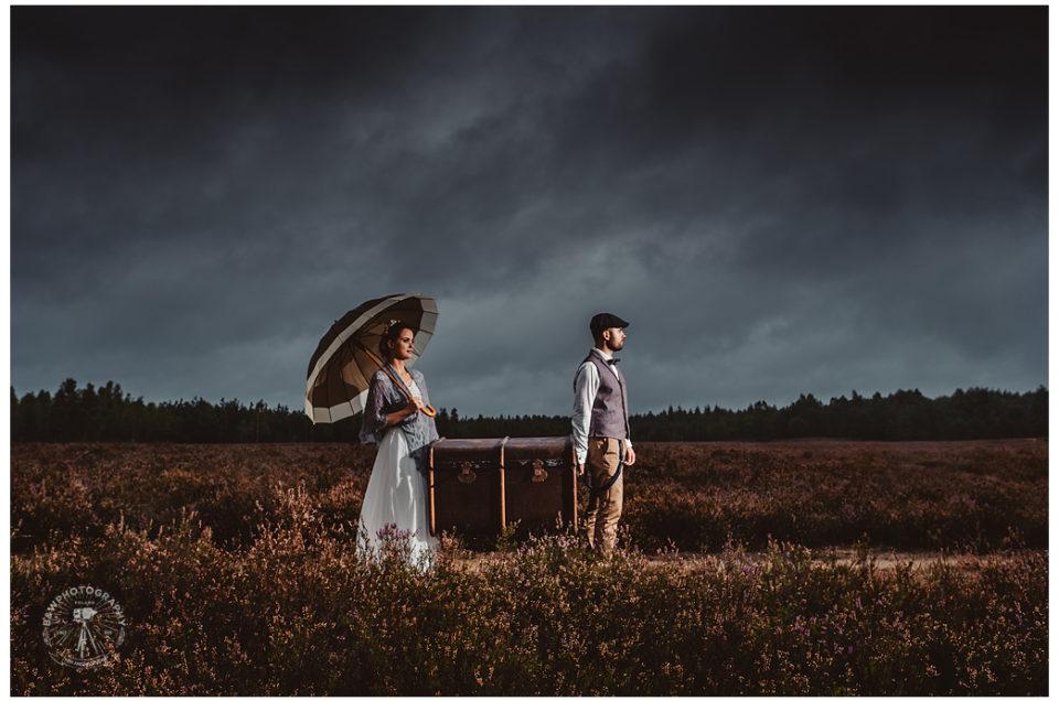 """DANCING IN THE RAIN – I'M HAPPY AGAIN"" –  SESJA NA POLU PEŁNYM WRZOSÓW"