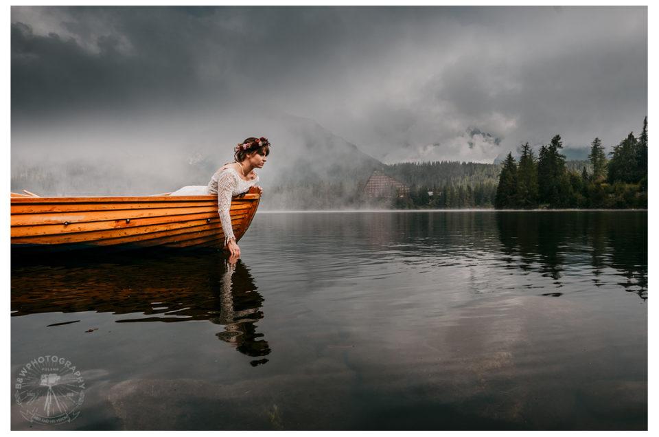 Paulina i Michał z deszczu pod rynnę czyli niezapomniany plener w Tatrach