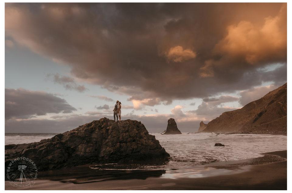 Sesja plenerowa na Teneryfie Część I Plaża Benijo – Playa de Benijo Elopement